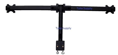 Triple Monitor Stand Curved Arm Flush Mount For Center Tyke Supply Dual Lcd Monitor Stand Desk Cl
