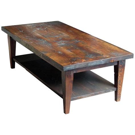 Rustic Pine Coffee Table Reclaimed Semi Rustic Pine Coffee Table With Bottom Shelf And Tapered Legs For Sale At 1stdibs