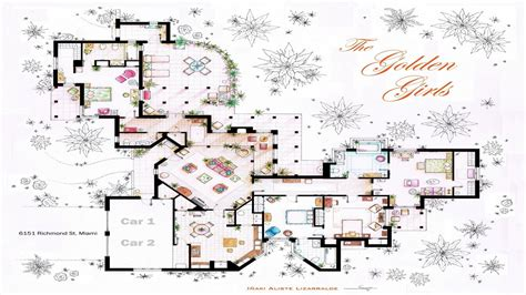 the golden girls floor plan golden girls house floor plan escortsea