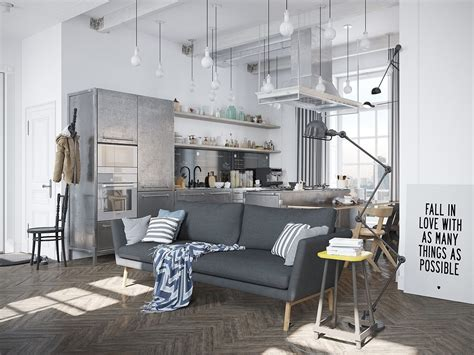 Apartment Styles | scandinavian apartment jazzed up by industrial design