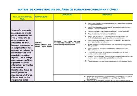 matriz de competencias 2016 todas las reas secundaria rutas del competencias de matriz matriz de competencias del 225 rea