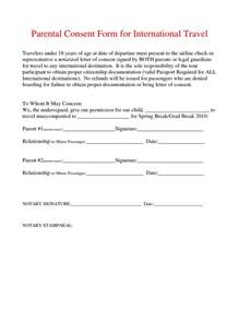 parental consent form template notarized letter template for child travel best business