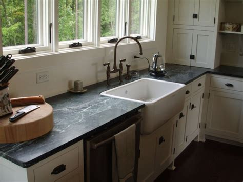 Black Sink White Countertop by Farm Style Sink Traditional Kitchen Remodeling With