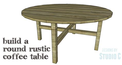 diy plans to build a rustic coffee table
