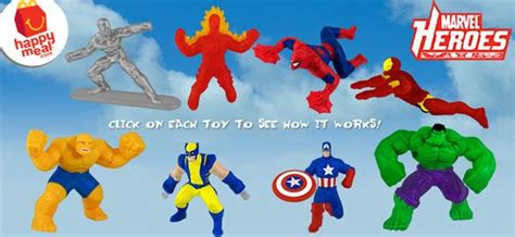 Kaos Mcds mcdonald s marvel heroes happy meal toys coming soon