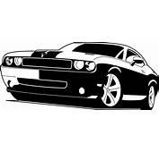 Dodge Challenger Image Logo Vector