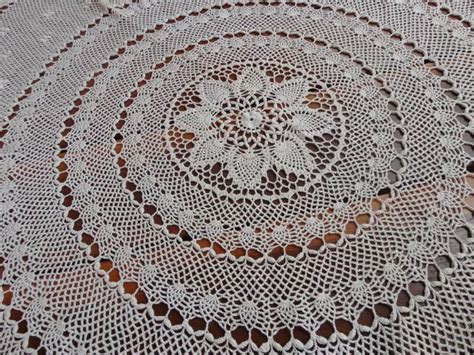 pattern of vintage crochet lace in an ecru color vintage cotton lace crochet round tablecloth d140cm ecru