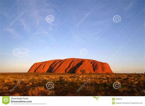 uluru ayers rock australia editorial stock image