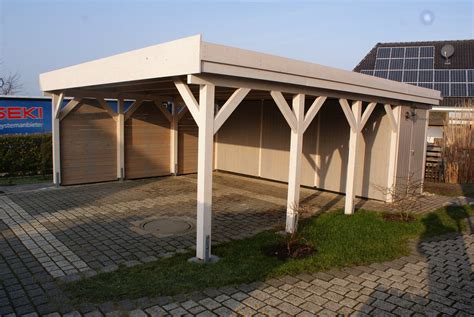 carport mv carport 6 00 x 5 20 m flachdach l 228 rche kvh natur