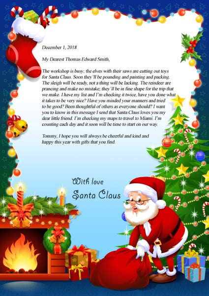 letter from santa santa letter and jesus on pinterest letter from santa claus virginia s personalized books