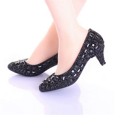 wedding shoes bridesmaid pumps rhinestone heels