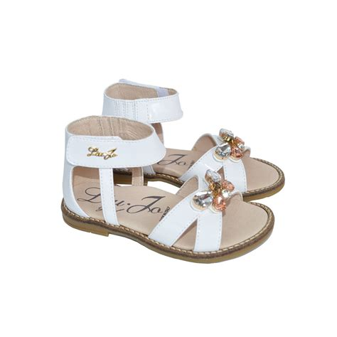 baby toddlers patent leather sandals with gems