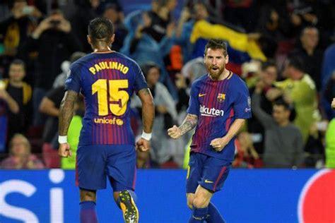 Kartu Remi Klub Bola Barcelona Mainan liga chions messi cetak gol ke 100 dan kartu merah pique warnai kemenangan barca benderra