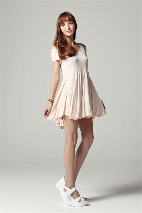 Flare Dress Korea open shoulder flare dress
