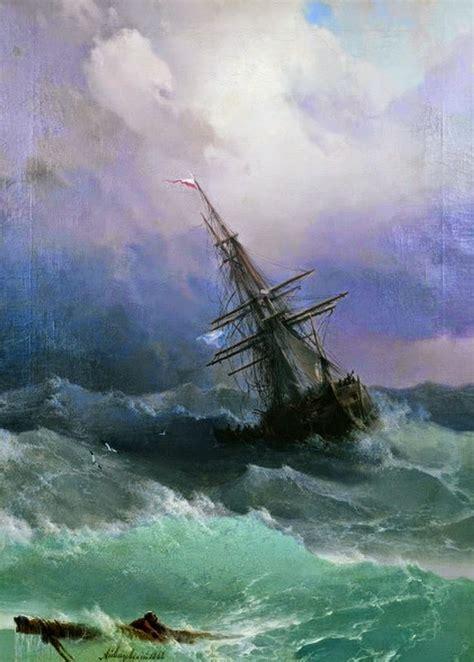 imagenes de barcos en alta mar cuadros pinturas oleos tempestad en alta mar paisajes