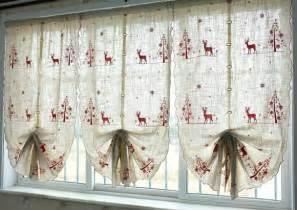 christmas kitchen curtains