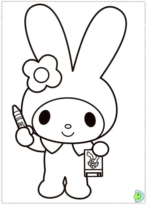 free coloring pages of and my melody