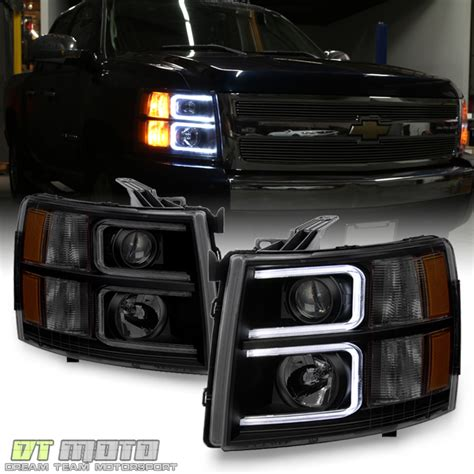 2010 chevy silverado lights blk smoke 2007 2013 chevy silverado 1500 2500 led drl