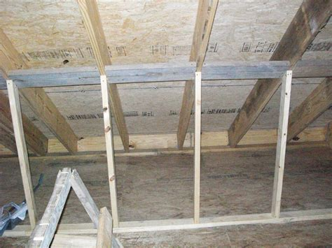 attic knee wall framing framing an attic knee wall image balcony and attic