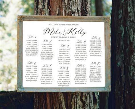 wedding seating sign template wedding seating chart sign printable modern seating chart