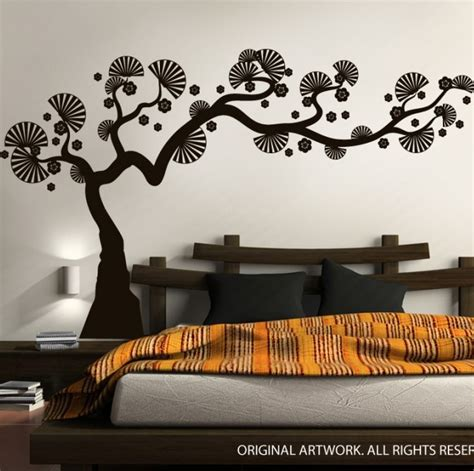 Small Home Decor Decals Modern Minimalists Wall Decals Bonsai Tree Small Japanese