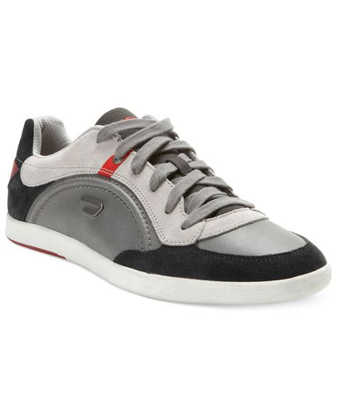 diesel sneakers diesel eastcop starch sneakers in gray for lyst
