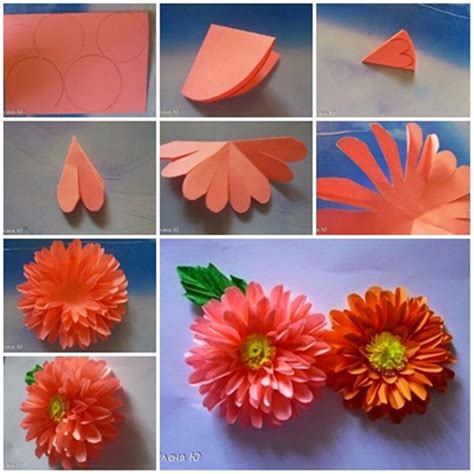 Easy Handmade Paper Flowers - wonderful diy paper dahlias flower