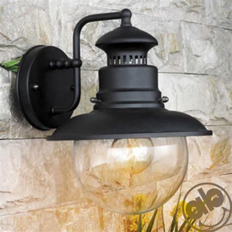 lanterne giardino lanterna giardino con globo in vetro e corpo in acciaio nero