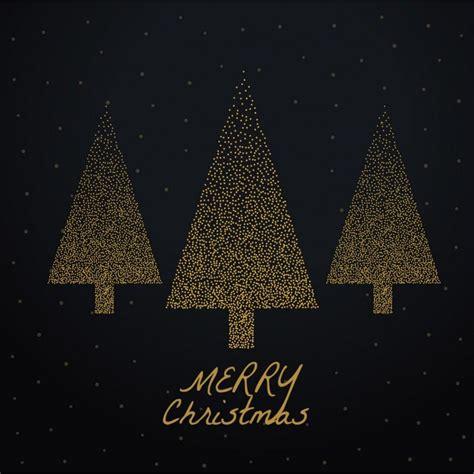 fondo negro con tres 225 rboles de navidad dorados