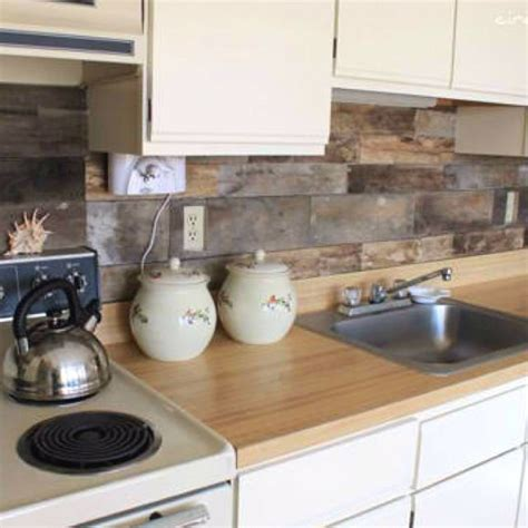 wood kitchen backsplash ideas 30 unique and inexpensive diy kitchen backsplash ideas you