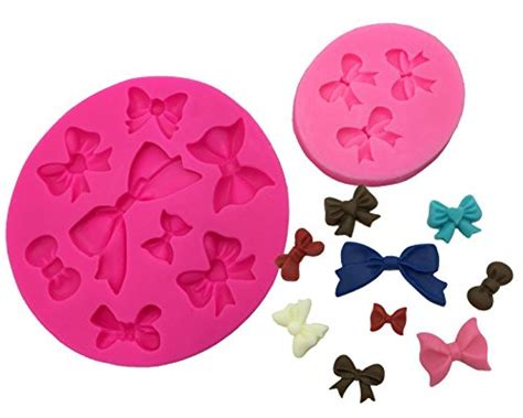 Silicone Baking Ribbon Large bow moldflexible minnie style bow mold 24 cavities