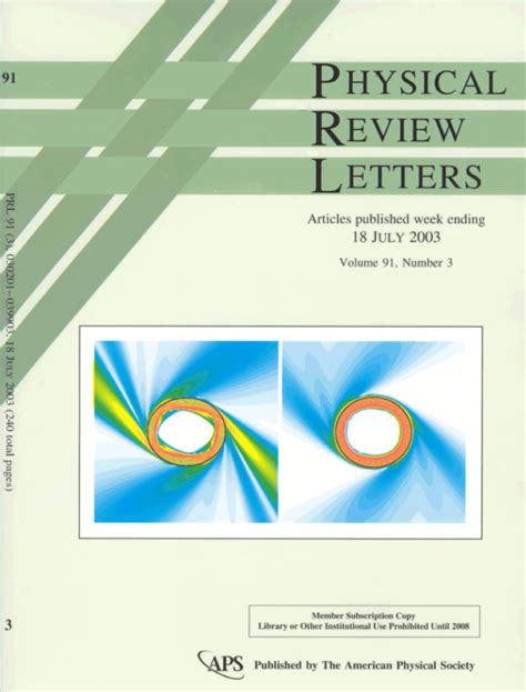 Nature Research Letter Impact Factor physical review letters impact factor letter of