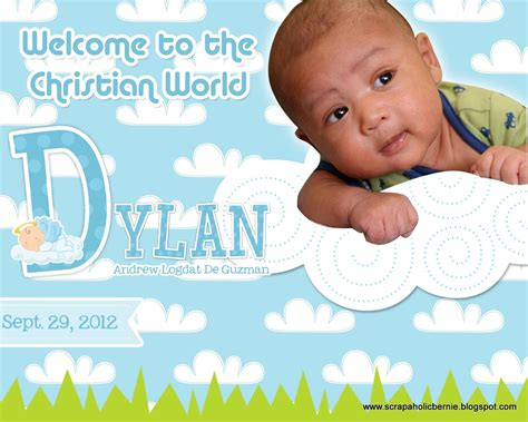 free layout for baptismal tarpaulin f1 digital scrapaholic blue sky christening personalized