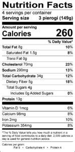 Pierogi Ingredients | Gluten-Free Pierogi