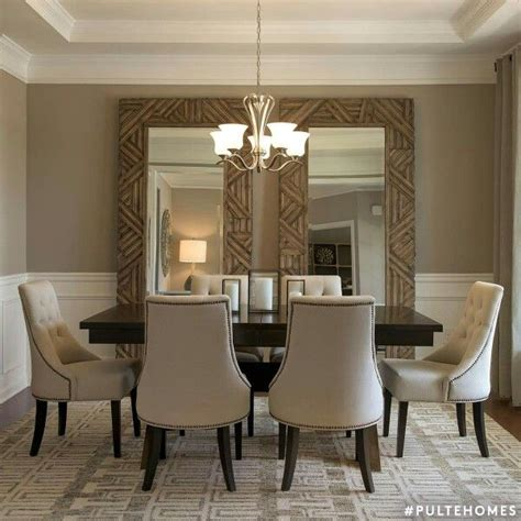 large mirrors  dining room nice idea   room