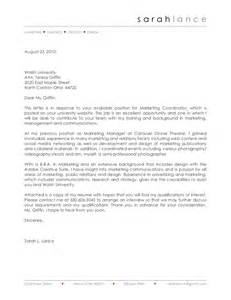 Email Cover Letter Marketing Manager Lance Cover Letter