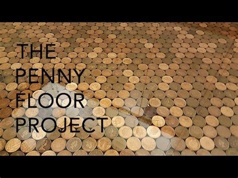 uk penny floor project | using 27,000 1 penny coins and