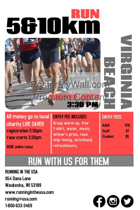 running flyer template charity run template postermywall