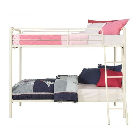 Metal White Bunk Beds Metal Bunk Bed In White 3135096 Option