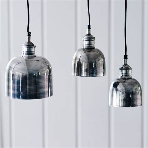 Flori Tarnished Silver Pendant Light By Rowen Wren Silver Pendant Light