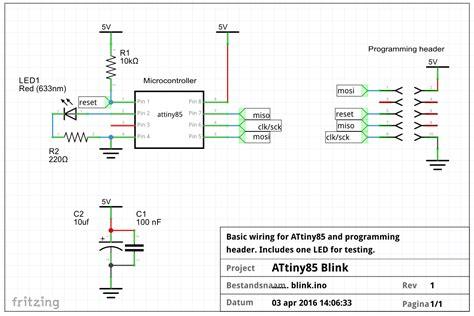 decoupling capacitor attiny how do i use an attiny85 or other attiny with arduino arduino stack exchange