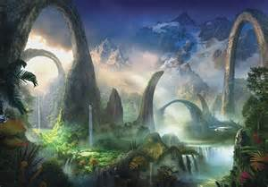 fantasy amp mythology wallpaper murals huge 3d window view fairy tale enchanted forest fantasy
