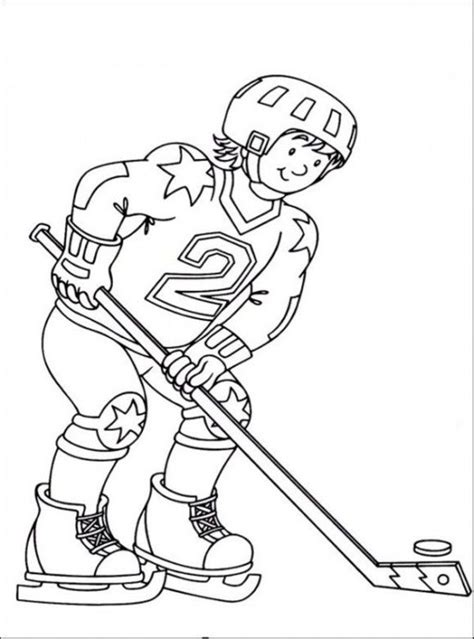 hockey coloring pages sport coloring pages