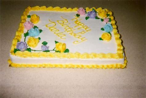 Sheet Cake Decoration by Single Layer Yellow Half Sheet Cake Cake Decorating