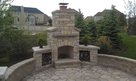 Patio Designs Naperville Outdoor Fireplace In Naperville Traditional Patio