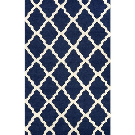 blue rugs 6 nuloom trellis navy blue 7 ft 6 in x 9 ft 6 in area rug mtvs27d 76096 the home depot