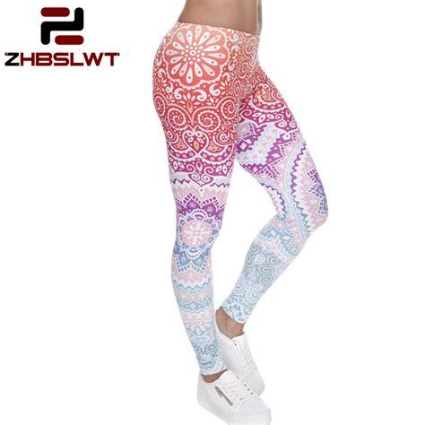 Slimming Legging 3 zhbslwt new trend 3d aztec ombre brand summer legging feminino slimming