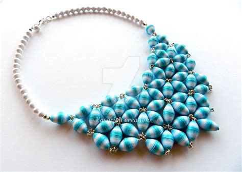 bead jewelry rings paper necklace by ombryb on deviantart