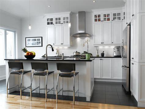 cuisine en bois blanc blanc un retour cuisine bois quartz