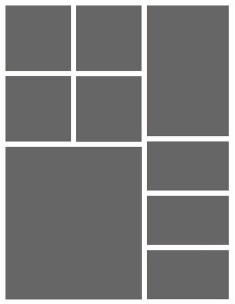 layout collage photoshop instant download 8 5x11 storyboard photographers template